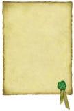 Pergamino irlandés de la suerte Fotos de archivo