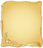 Pergamino para el día de tarjeta del día de San Valentín Imágenes de archivo libres de regalías