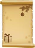 Pergamino para la Navidad Foto de archivo libre de regalías