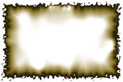 Pergamino quemado 2 Fotografía de archivo libre de regalías