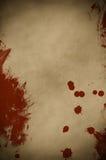 Pergamino salpicado sangre Foto de archivo