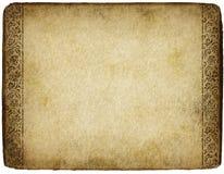 Pergamino viejo Imágenes de archivo libres de regalías