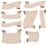 Pergaminowa ślimacznica I sztandary Ustawiający royalty ilustracja