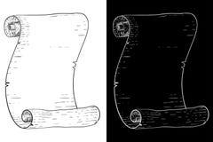 Pergaminowa ślimacznica Ręka rysujący nakreślenie ilustracja wektor
