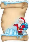 pergaminowa 4 zima Claus Santa ilustracji