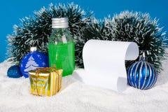 pergaminowi Boże Narodzenie przedmioty Obrazy Stock