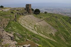Pergamon acropolis theater Royalty Free Stock Image