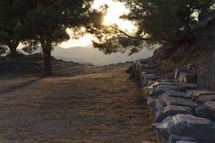 Pergamon akropol Izmir Turkiet Arkivbilder