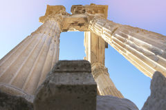 Pergamon-Akropolis stock foto's