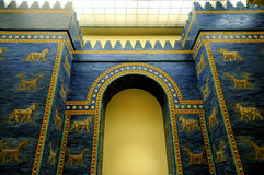 Pergamon Museum. The blue door inside the Pergamon Museum in Berlin Royalty Free Stock Images