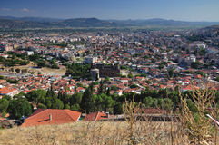 Shot with a view to the city Pergamon Stock Photo