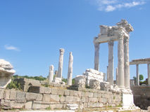 Pergamon tempel av Zeus Arkivbild