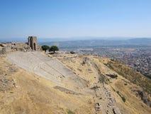 Pergamum的罗马剧院 库存照片
