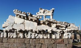 Pergamum. Ruins at Pergamum in Turkey Royalty Free Stock Photo