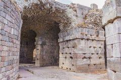 Pergamum - Asklepion romanos imagens de stock