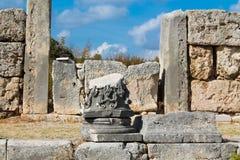 Perge ancient Greco-Roman city in Antalya Stock Image