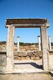 In  perge   asia turkey    and the roman temple Royalty Free Stock Photography