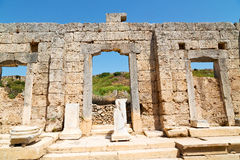 In  perge  asia turkey  and the roman temple Stock Images