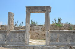 Perge city of the most beautiful works of the Roman Empire in Turkey, home door entry Royalty Free Stock Images