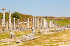 In  perge construction  the roman temple Stock Images