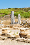 Perge old  the column  and  roman temple Stock Photos
