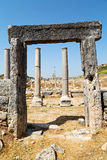 Perge old construction in asia   the  roman temple Royalty Free Stock Image