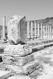Perge old construction in asia turkey the column  and the roman Royalty Free Stock Photo