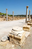 Perge old construction in the column   roman temple Royalty Free Stock Photography