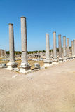 Perge old construction   turkey the roman temple Royalty Free Stock Photography