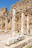 Perge old construction in   turkey   roman temple Stock Image