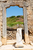 Perge old  in  turkey   and the roman temple Stock Images