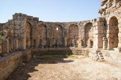 Perge, Turkey. Ancient city in Perge in Turkey Stock Photo