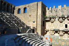 Perge, Turkey. Historical arena Aspendos in Turkey Royalty Free Stock Images