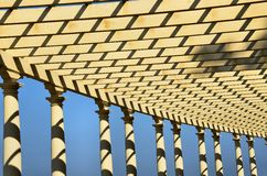 Pergola. Architectural detail of a pergola in the city of Porto Stock Photos