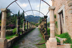 Pergola of the Alfabia gardens, Mallorca stock photo