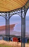 pergola arbor garden overlooking sea  Stock Images