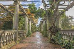 Pergola. In autumn park Stock Photography