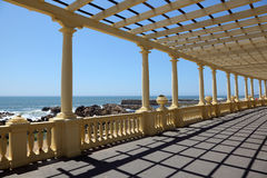 Pergola at the beach Royalty Free Stock Image
