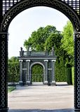 Pergola in Crown Prince Garden in Schonbrunn palace in Vienna Stock Images