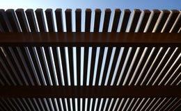 Pergola en aluminium Photographie stock libre de droits