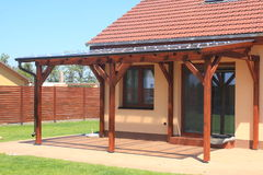 Pergola en bois Photo stock