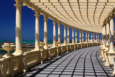 Pergola at Foz do Douro, not far from Oporto Stock Photo
