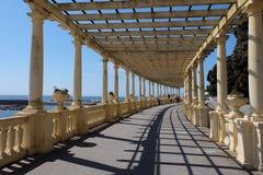 Pergola Foz of Porto, promenade in Porto, Portugal. stock image