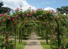 Pergola in a french garden Stock Photo