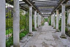 Pergola at garden Royalty Free Stock Photo