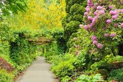 Pergola im Garten Stockfoto