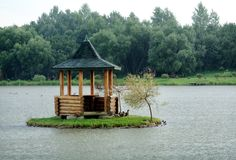 Pergola in a lake Royalty Free Stock Photography