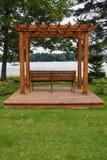 Pergola With Lake View Stock Photos