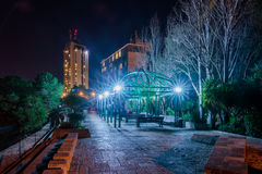 Pergola on Louis Promenade  at night Haifa. Israel Royalty Free Stock Photos