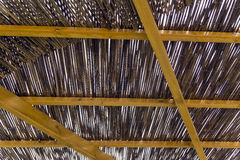Pergola made of reeds Royalty Free Stock Images